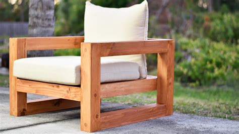 diy modern outdoor chair youtube