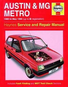 Austin Mero Mg Metro Service Repair Workshop Manual 1980 1990