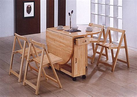 butterfly space saving drop leaf table 4 folding