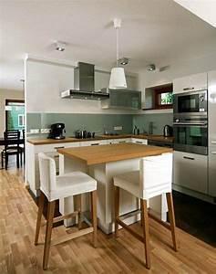 idee relooking cuisine meubles de cuisine en blanc et With idee deco cuisine avec cuisine en bois gris clair