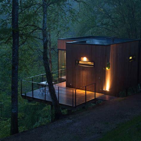 secluded cabin architecture les cabanes de salagnac