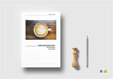 cafe business plan template   word excel