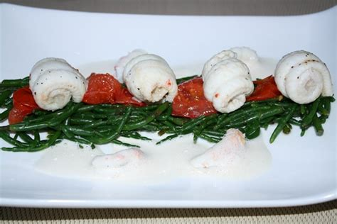 salicorne cuisine filet de sole et salicorne sautée