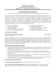 enforcement resumes free resume writing template writing resume sle