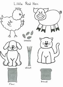 little red hen flannel board ideas storygarden With felt storyboard templates