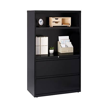 Bookcase With Lateral File Drawer by Workpro 36 W Lateral File Cabinet With Bookcase 2 Drawers