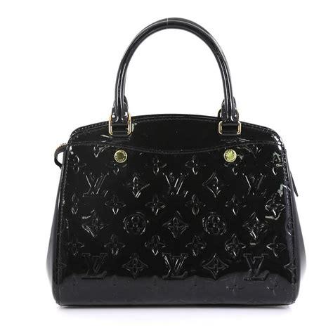 louis vuitton brea nm handbag pm black monogram vernis leather satchel tradesy