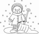 Shovel Coloring Snow Pages Getcoloringpages Winter Colouring Steam sketch template