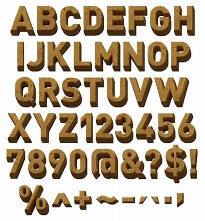 Font Wooden Toy Fonts Alphabet 3d Typeface