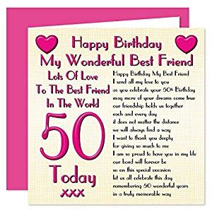 best 25 happy birthday 50 ideas on happy best friend 50th happy birthday card lots of to the