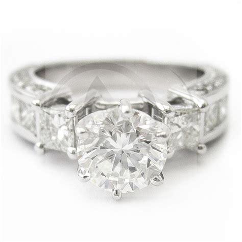 princess cut diamond engagement ring channel set
