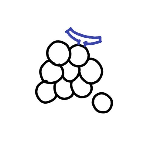 draw grapes step  step easy drawing guides