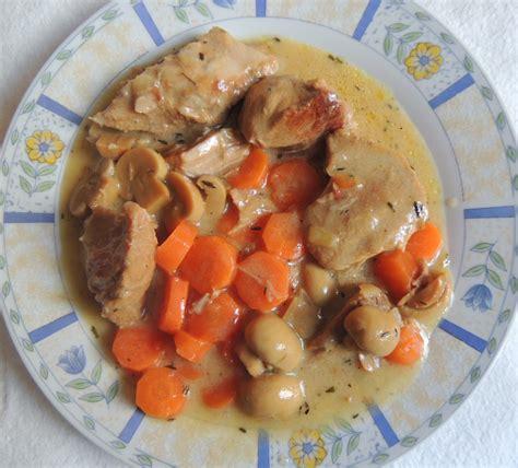 comment cuisiner une blanquette de veau recette minceur blanquette de veau aux chignons
