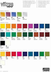 Pebeo Vitrea 160  Official  Color Chart  Available In