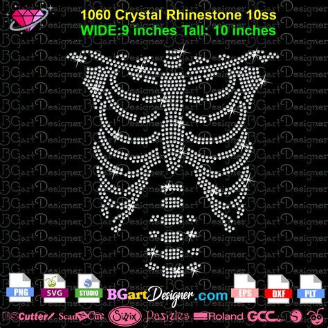 lllᐅ Download Rhinestone Halloween Skeleton - bling ...