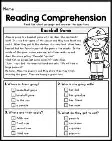 reading and comprehension free grade reading comprehension passages set 1 by kaitlynn albani