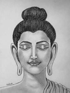 Sketches (Pencil, Graphite and Charcoal) - Buddha by Madhurie