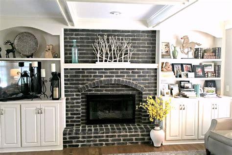 ways  refresh  brick fireplace