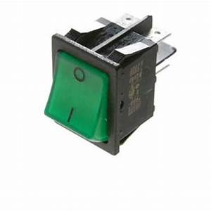 Switch 240 Volt Green Face For Dometic And Electrolux