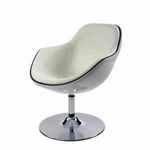 Fauteuil Design Blanc : fauteuil design moon blanc ~ Teatrodelosmanantiales.com Idées de Décoration