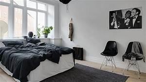 une deco scandinave contemporaine en noir et blanc shake With chambre gris noir et blanc