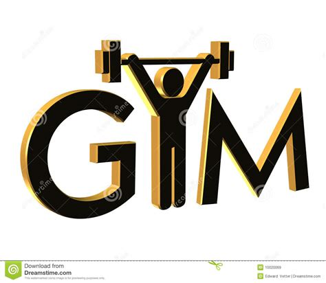 gym fitness logo  isolated royalty  stock images