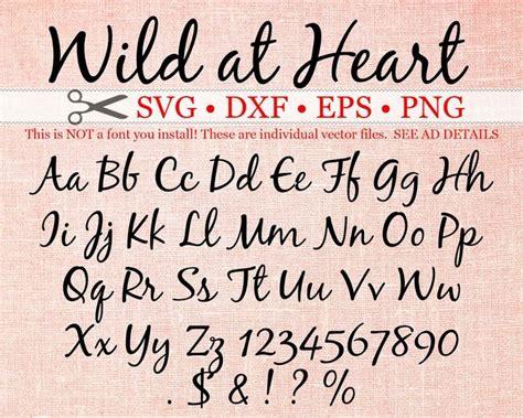 wild  heart script svg monogram cursive script svg font etsy   lettering fonts