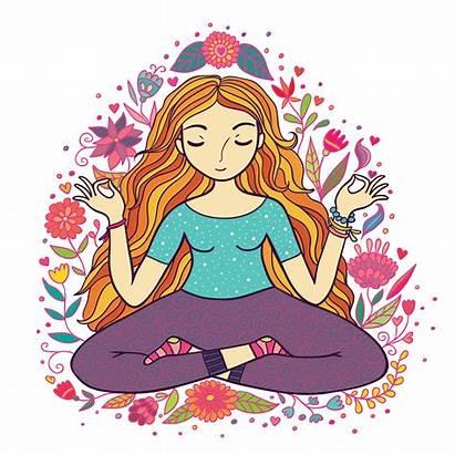 Calm Clipart Meditation Breathing Keep Transparent Yoga