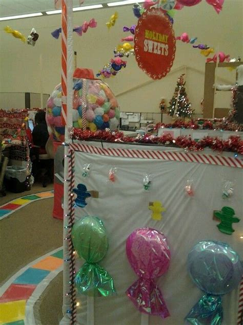 candyland christmas candyland halloween cubicle