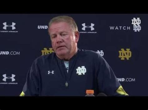 Brian Kelly Press Conference Sept 8th Youtube