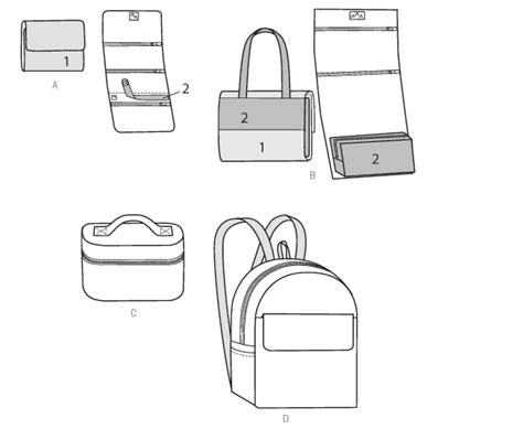 Butterick 6072 Cases, Cosmetic Bag And Backpack