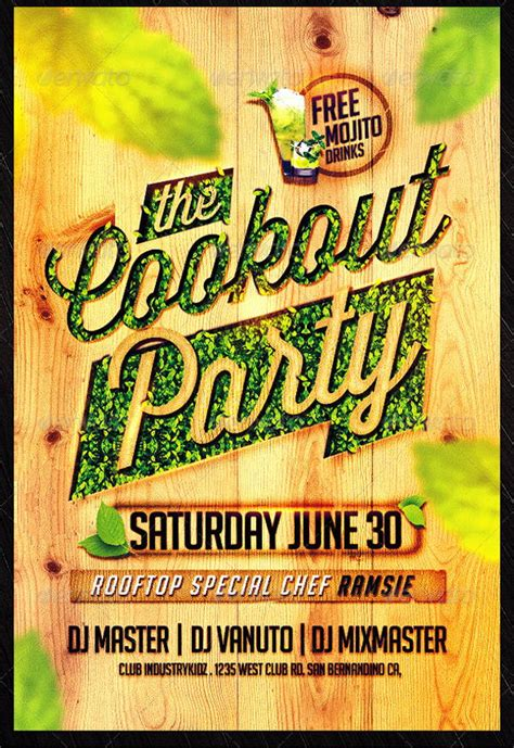 cookout flyer designs templates word psd ai