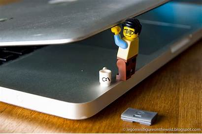 Lego Programmer Computer Minifigure Series Wallpapers Minifigures