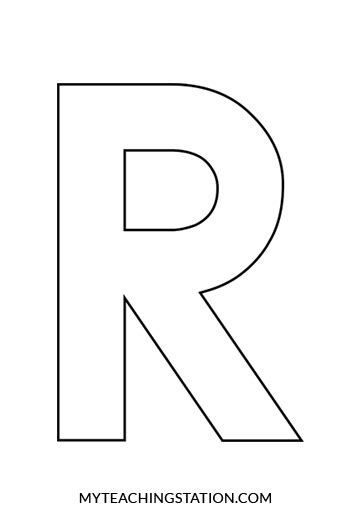 r in letters the letter r letters free sle letters 24185