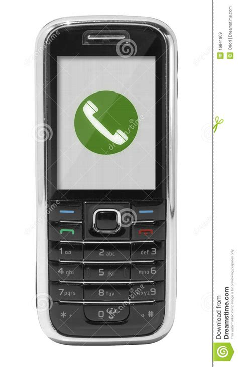Free Calls To Mobile Phones by Mobile Phone With Call Icon Stock Image Image Of Object