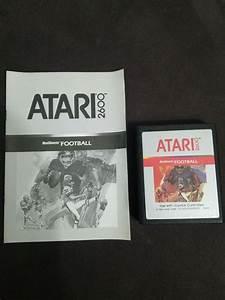 Realsports Football  Atari 2600  1982  With Manual Tested