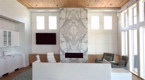 Tile Backsplash Ideas Kitchen - calacatta gold marble fireplace emerald coast fabrication