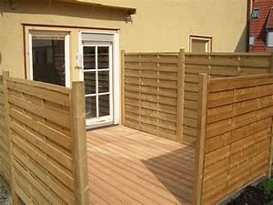Terrasse Mit Sichtschutz Holzbau Breckel