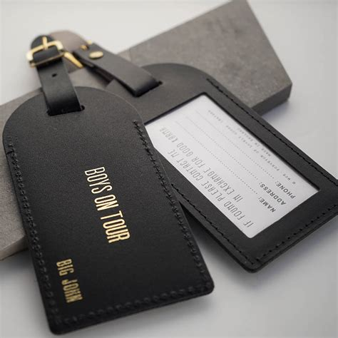 Leather Personalised Luggage Tag By Wue Notonthehighstreet