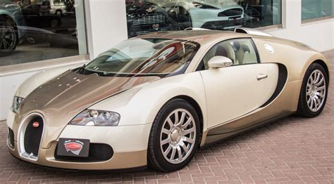 2003 Bugatti Veyron For Sale by Unique Light Gold Bugatti Veyron For Sale Gtspirit