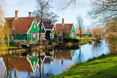zaanse schans netherlands january stock photo