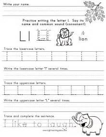 Letter L Worksheets