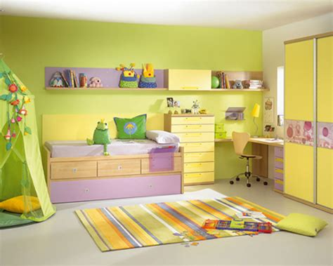 lime green and white themed room paint ideas with