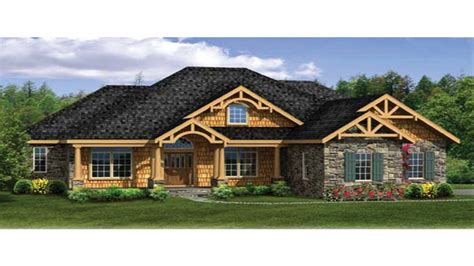 craftsman house plans  walkout basement modern