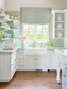 Menards Gray Subway Tile by Clean And Classic Cozy Cottage Kitchen Better Homes And