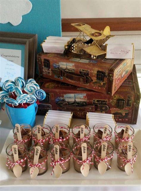 vintage plane baby shower party ideas photo