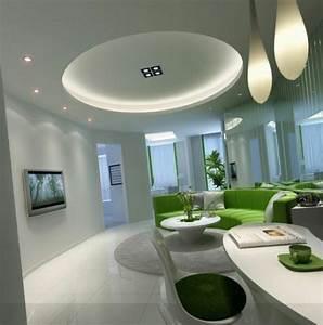 Deco Salon Moderne : d coration de salon moderne en vert et gris 20 exemples ~ Teatrodelosmanantiales.com Idées de Décoration