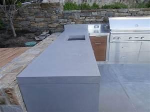 cuisine exterieure en beton 9 designs 5 bonnes raisons With plan de travail cuisine exterieure