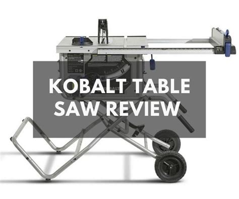 This kobalt table saw is an outstanding saw. Kobalt Table Saw Review + Buyer's Guide - The Saw Guy