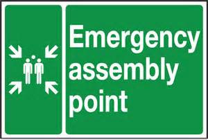 How To Lift Floor Boards by Emergency Assembly Point Double Sided Hanging Signs Sign